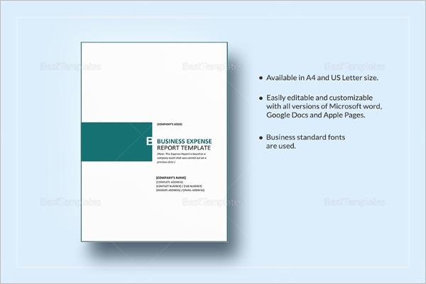 Business Annual Report Template in Google Docs