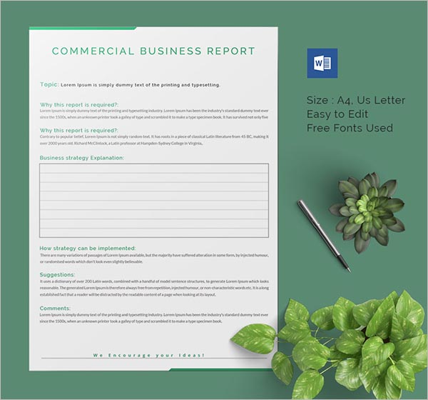 Business Report Template MS Word Download
