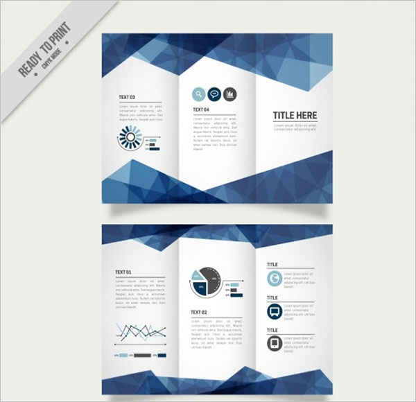 Business Trifold Free Vector Design