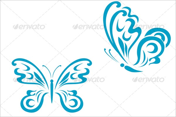 Butterfly Tattoo Icon Design