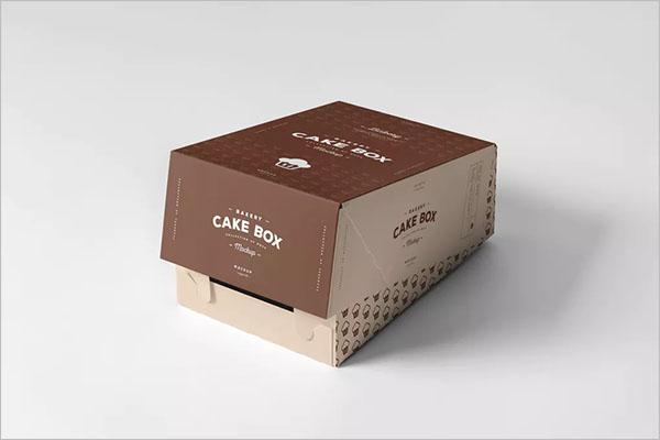 Cake Box Design Mockup