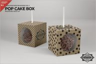 Cake Pop Box Packing Mockup