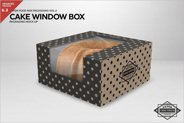 Cake Window Box Packaging Mockup