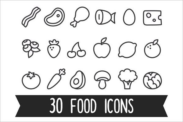 Cartoon Food Icons