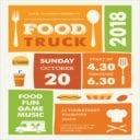 Cartoon Food Truck Flyer