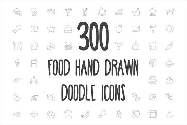 Cartoon Vector Food Icons