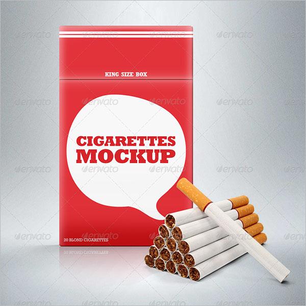 Cigarette Case Mockup