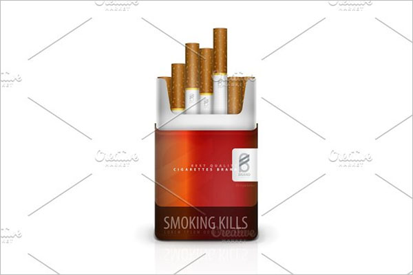 Cigarette Mockup Vector Design