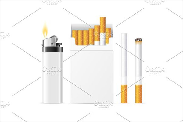 Cigarette Packet With Pocket Lighter