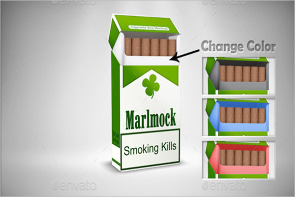 Cigarette Packing Mockup