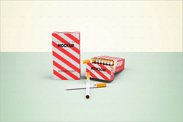 Cigarette Tin Mockup