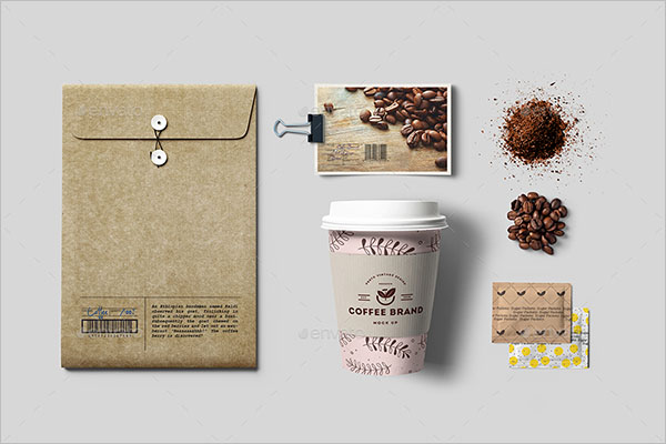 Coffee Branding Mockup Illustraction