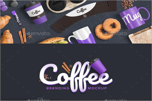 Coffee Branding Mockup PSD