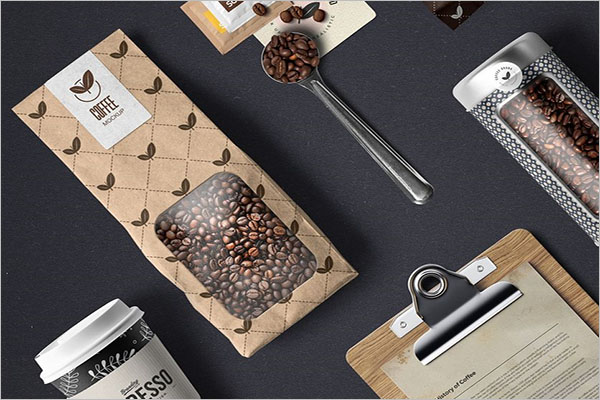 Coffee Branding & Packaging Mockup Design