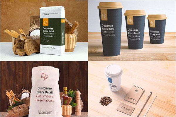 Coffee Packages Mockup Template