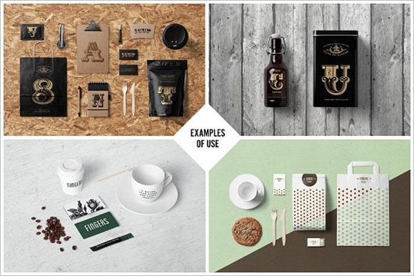 Coffee Stationery Branding Mock-Up