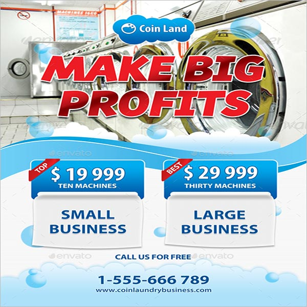 Coin Laundry Business Poster