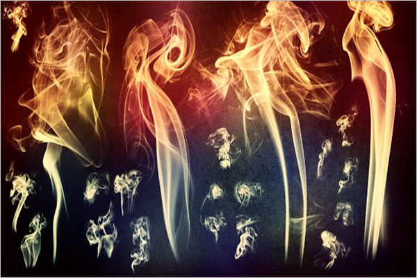Colored Smoke Brushes Photoshop