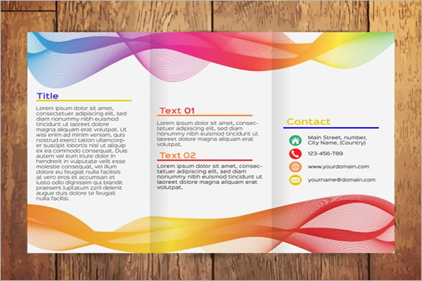 Colorful Wavy Tri-Fold Brochure Template