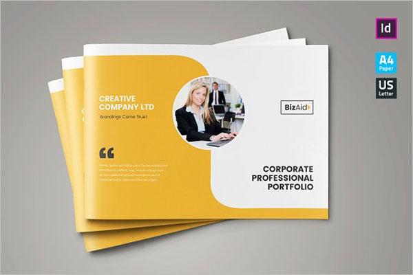 Company Landscape Brochure Design