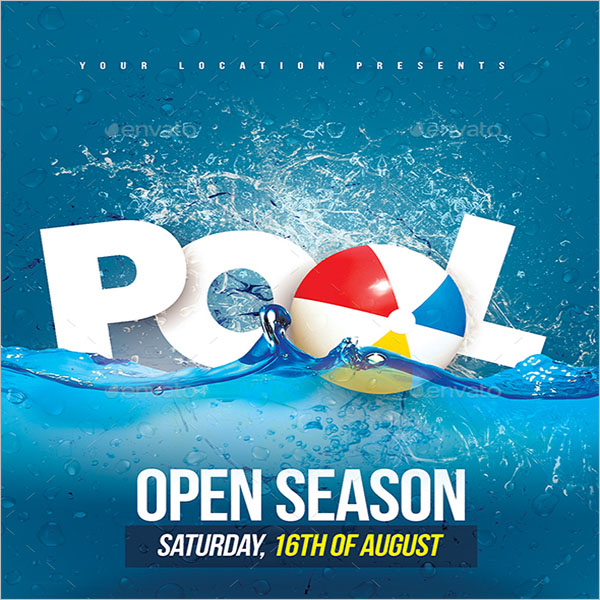 Company Pool Party Flyer
