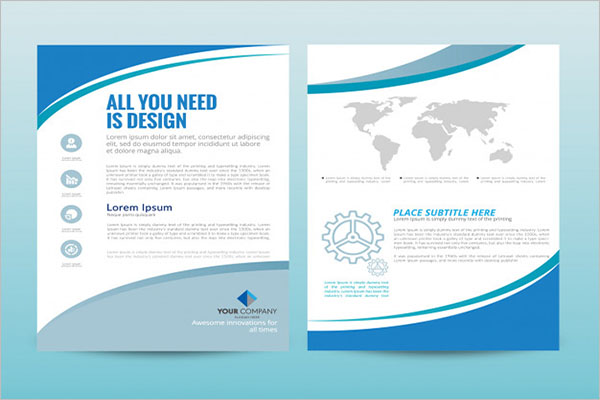 Company marketing brochure template