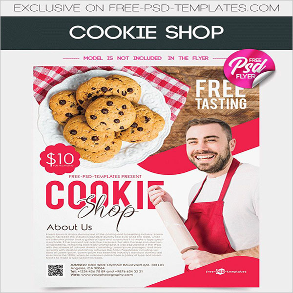 Cookie Shop Printable Flyer Theme