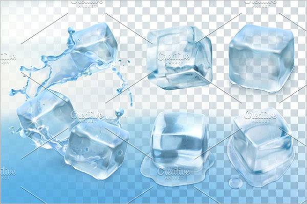 Cool Ice Cube Background