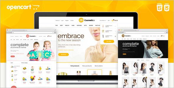 Cosmetic Responsive OpenCart Template