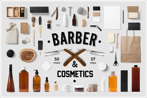 Cosmetics Branding Mock-Up Template
