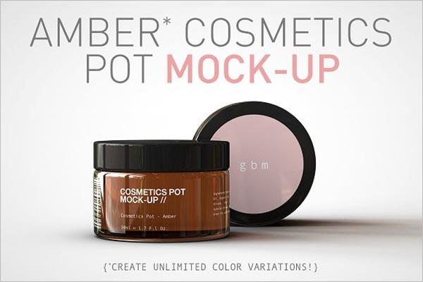 Cosmetics Pot Mock-Up Design