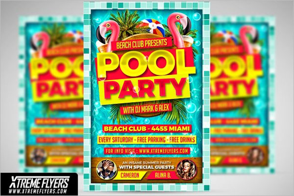 Create Pool Party Flyer Template
