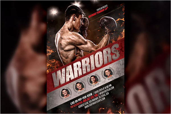 Creative Boxing Flyer Template