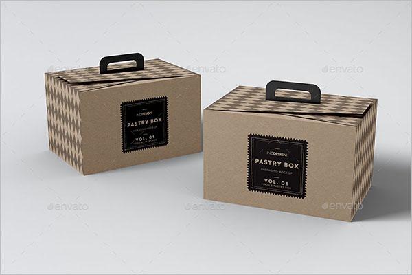 Creative Cake Box Mockup