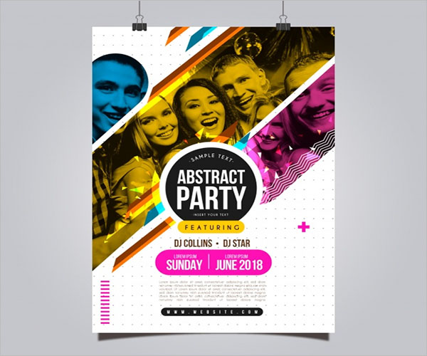 Creative Dance Party Poster Templates
