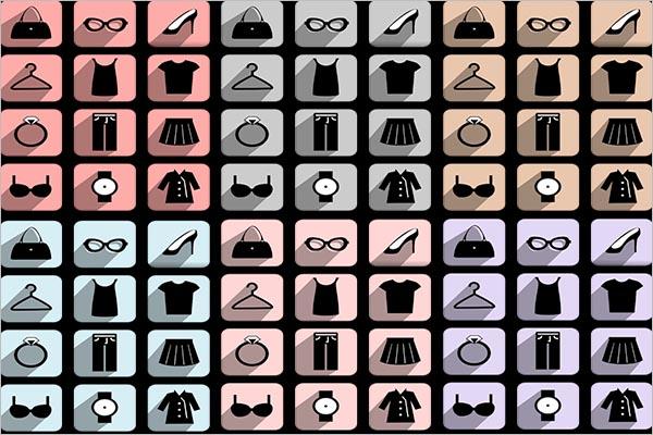 Creative Fashion icon Set