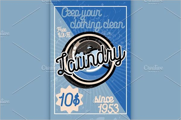 CreativeLaundry Service Poster Template