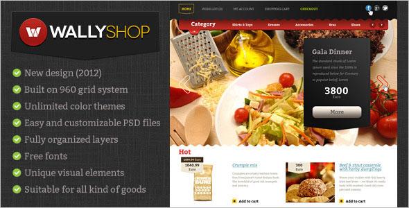 Creative OpenCart PSD Template