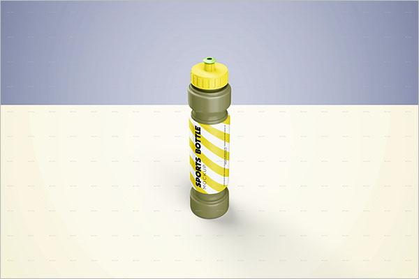 Creative Sports Bottle Mockup