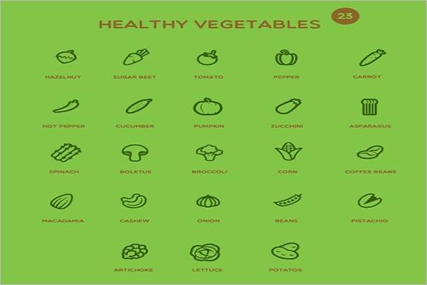 Creative Vegetable Icon Design