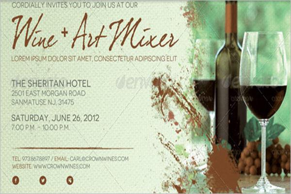 Creative Wine Flyer Template