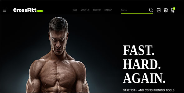 Crossfitt Store PrestaShop Theme