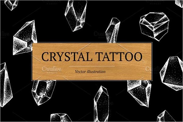 Crystal Tattoo Design Template
