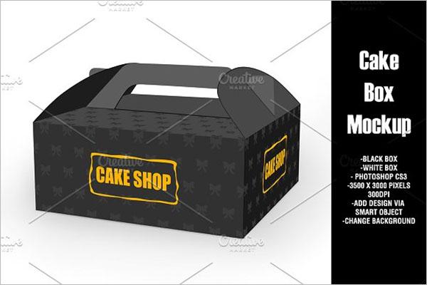 Cup Cake Box Mockup