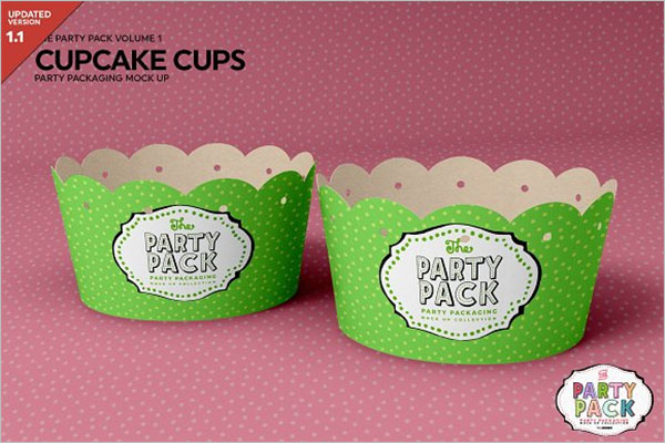 Cupcake Cups Packing Mockup
