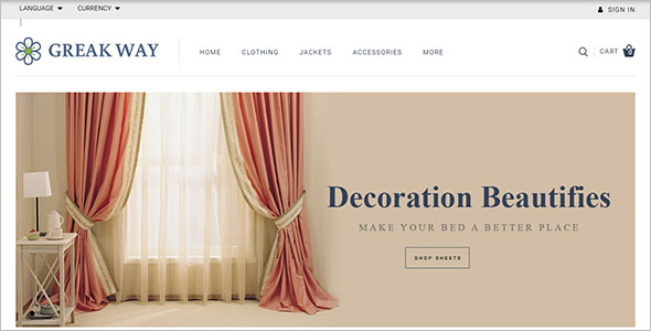 Curtains Store OpenCart Template