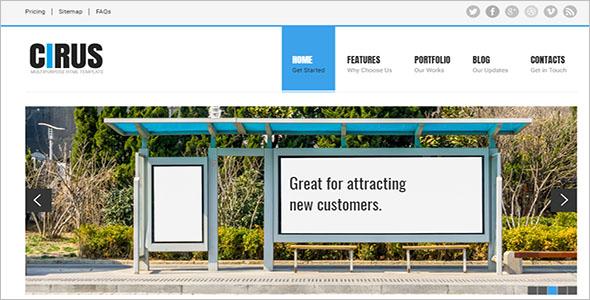 Custom HTML5 & CSS3 WordPress Theme