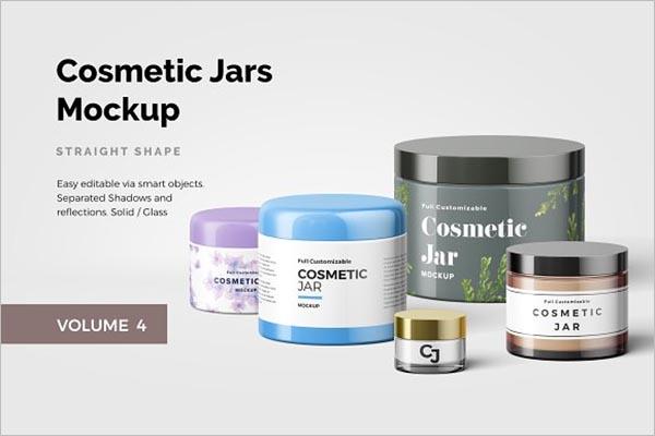 Customizable Cosmetic Jar Design