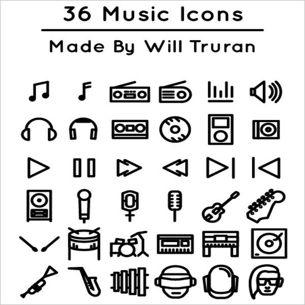 Customizable Music Icons