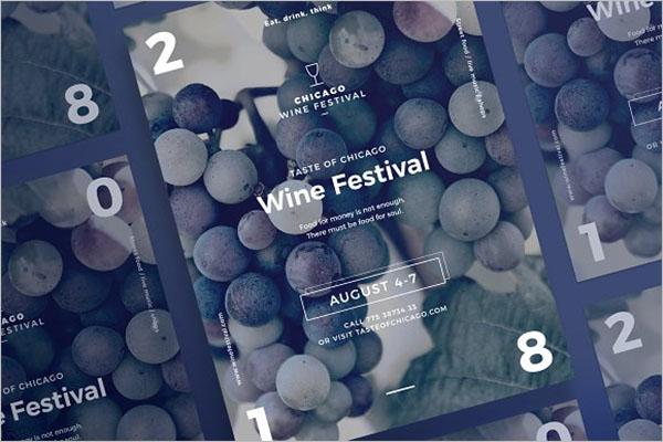 Customizable Wine Flyer Design